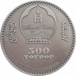 Vaddisznó 2018 mongol antikolt ezüst pénzérme