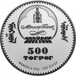 Majom éve 2016 mongol proof high-relief ezüst pénzérme
