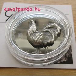 Kakas éve 2017 mongol proof high-relief ezüst pénzérme