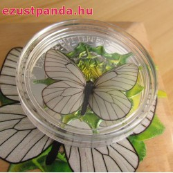 Mongólia Pillangó 2017 3D proof ezüst pénzérme