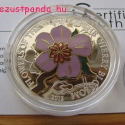 Cseresznyevirág 2012 proof ezüst pénzérme rekeszzománccal