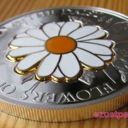 Százszorszép 2011 proof ezüst pénzérme rekeszzománccal