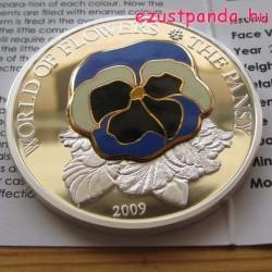 Árvácska 2009 proof ezüst pénzérme rekeszzománccal