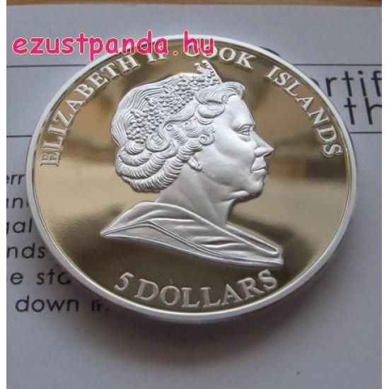 Pipacs 2009 proof ezüst pénzérme rekeszzománccal