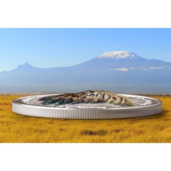 Kilimandzsáró - 5 uncia 2019 ezüst pénzérme - 777 példányban