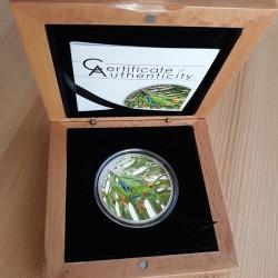 Vörösszemű levelibéka 2018 proof ezüst pénzérme