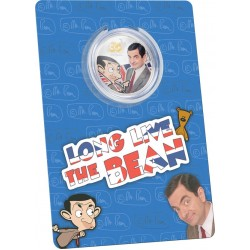 Mr Bean 30. évforduló 2020 Cook-szigetek 1 uncia proof ezüst pénzérme