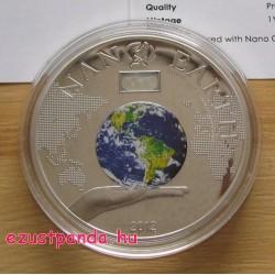"NANO Earth - ""A világ a kezedben"" 2012 proof ezüst pénzérme nano-chippel"