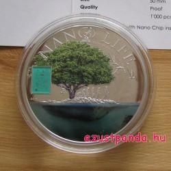 """NANO Life - """"Az élet evolúciója"""" 2015 proof ezüst pénzérme nano-chippel"""