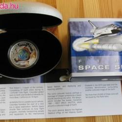Űrsikló 2010 proof ezüst pénzérme, forgó belső résszel
