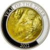 A Tigris éve 2022 - 5 uncia proof ezüst pénzérme gyöngyházzal