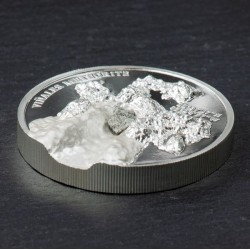 Vinales meteorit 2020 1 uncia proof ezüst pénzérme meteoritdarabbal