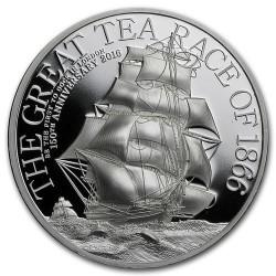 A Nagy Hajós Teafutam 2016 2 uncia proof ezüst pénzérme