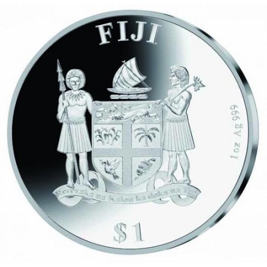 Beethoven 250 éve született -  Fidzsi szigetek 2020 1 uncia proof ezüst pénzérme