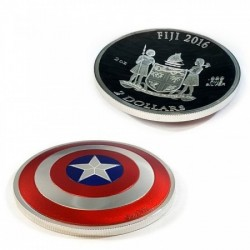 Captain America 2016 MARVEL 2 uncia proof ezüst pénzérme