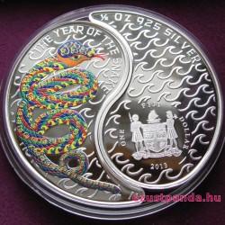 Yin-yang Kígyó 2013 2x0,5 uncia proof ezüst pénzérme