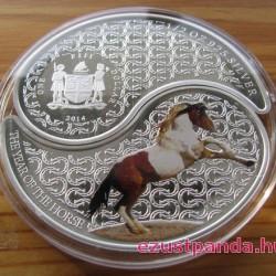 Yin-yang Ló 2014 2x0,5 uncia proof ezüst pénzérme