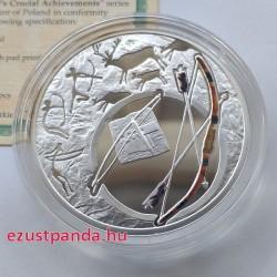 Az emberiség sorsdöntő találmányai - Az íj Niue 2010 színes, proof ezüst pénzérme