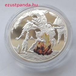 Az emberiség sorsdöntő találmányai - A tűz Niue 2010 színes, proof ezüst pénzérme