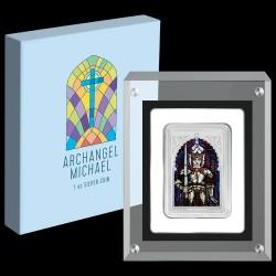 Mihály arkangyal - Niue 2020 1 uncia proof ezüst pénzérme, téglalap alakú