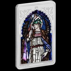 Rafael arkangyal - Niue 2020 1 uncia proof ezüst pénzérme, téglalap alakú