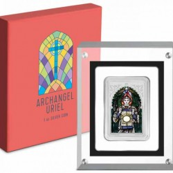 Uriel arkangyal - Niue 2021 1 uncia proof ezüst pénzérme, téglalap alakú