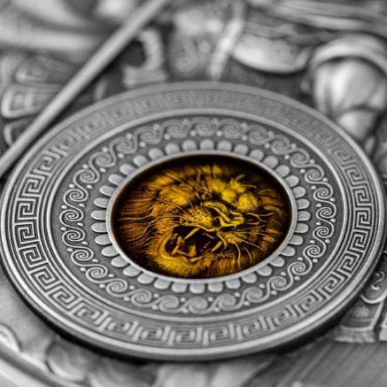 Arész és Mars hadistenek Niue 2021 2 uncia antikolt ezüst pénzérme