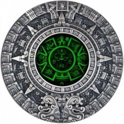 Azték naptár 2019 2 uncia antikolt ezüst pénzérme