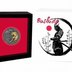 Bushido - A harcos útja - Niue 2021 2 uncia antikolt ezüst pénzérme aranyozással