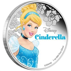 Disney Hamupipőke 2015 1 uncia proof ezüst pénzérme