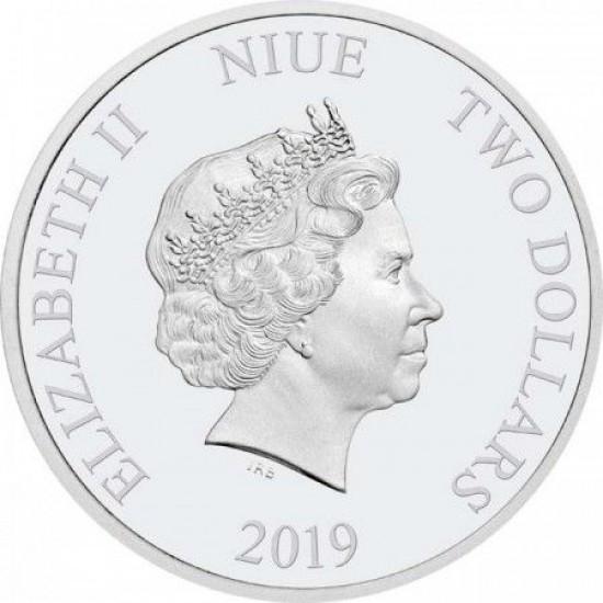 Oroszlánkirály 4x1 uncia Niue-sziget proof ezüst pénzérme szett