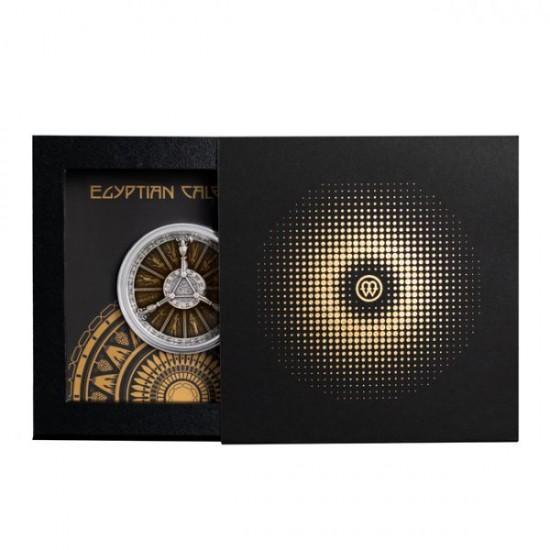 Egyiptomi naptár 2021 2 uncia antikolt ezüst pénzérme