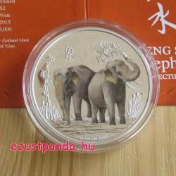 Feng Shui Elefánt - Niue 2015 1 uncia proof ezüst pénzérme