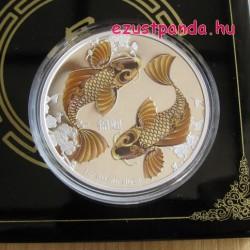Feng Shui Koi pontyok - Niue 2012 1 uncia proof ezüst pénzérme