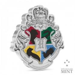 Harry Potter - Roxfort iskola címere 1 uncia színezüst pénzérme Niue-sziget 2021