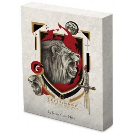Harry Potter - Roxfort Házak GRIFFENDÉL 5 gramm színezüst fólia bankjegy érme Niue-sziget 2020