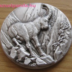 Ibex Kőszáli kecske - Niue 2014 1 uncia ezüst pénzérme