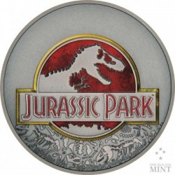 Jurassic Park 2018 1 uncia antikolt ezüst pénzérme