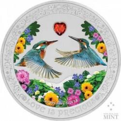 Szerelmes madarak 2018 1 uncia proof ezüst pénzérme