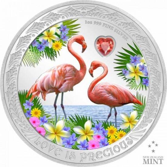Szerelmes madarak 2021 1 uncia proof ezüst pénzérme