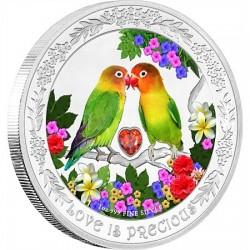 Szerelmes madarak 2017 1 uncia proof ezüst pénzérme