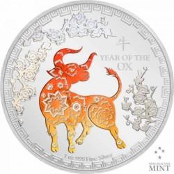 Bivaly éve 2021 Niue 1 uncia proof ezüst pénzérme