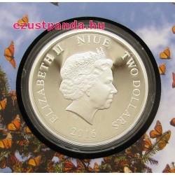 Királylepkék vándorlása - Niue 2016 1 uncia ezüst pénzérme