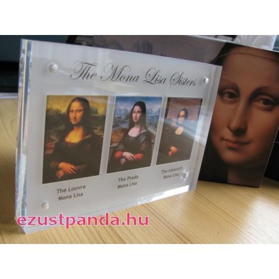 Mona Lisa testvérek - Niue 2014 3x40g színes ezüst érmeszett
