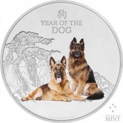 Kutya éve 2018 - Niue 1 uncia ezüst pénzérme