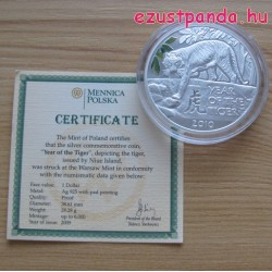 Tigris Niue 2010 proof ezüst pénzérme