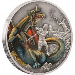 Észak sárkánya Fafnir - Niue 2020 2 uncia antikolt ezüst pénzérme