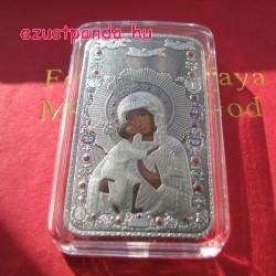 Madonna Ikon- Niue 2013 1 uncia antikolt, konvex ezüst pénzérme