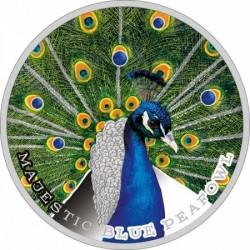 Kék páva Niue 2019 1 uncia ezüst pénzérme