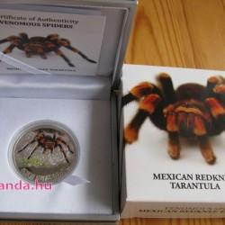 Mexikói tarantula - Niue 2012 1/2 uncia proof ezüst pénzérme